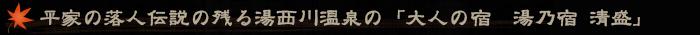 平家の落人伝説の残る湯西川温泉の「大人の宿 湯乃宿 清盛」